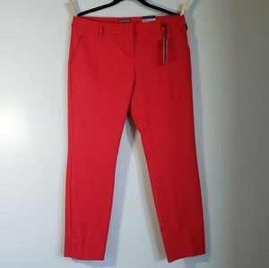 Express Columnist Red Ankle Pants 8R NWT